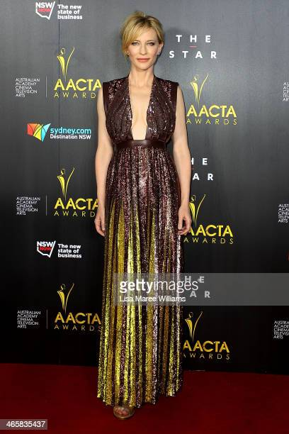 Cate Blanchett arrives at the 3rd Annual AACTA Awards Ceremony at The Star on January 30 2014 in Sydney Australia