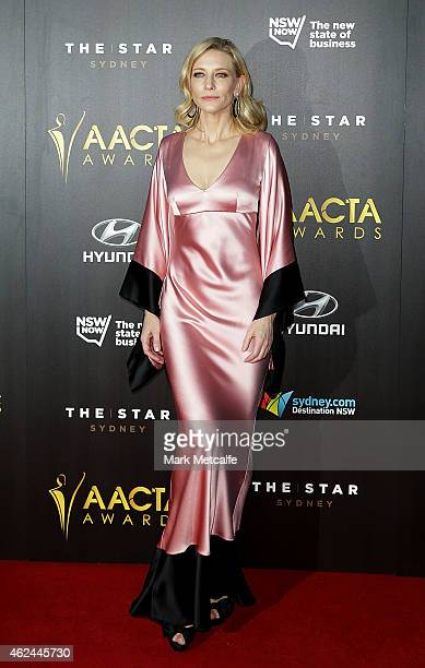 Cate Blanchett arrives at the 4th AACTA Awards Ceremony at The Star on January 29 2015 in Sydney Australia