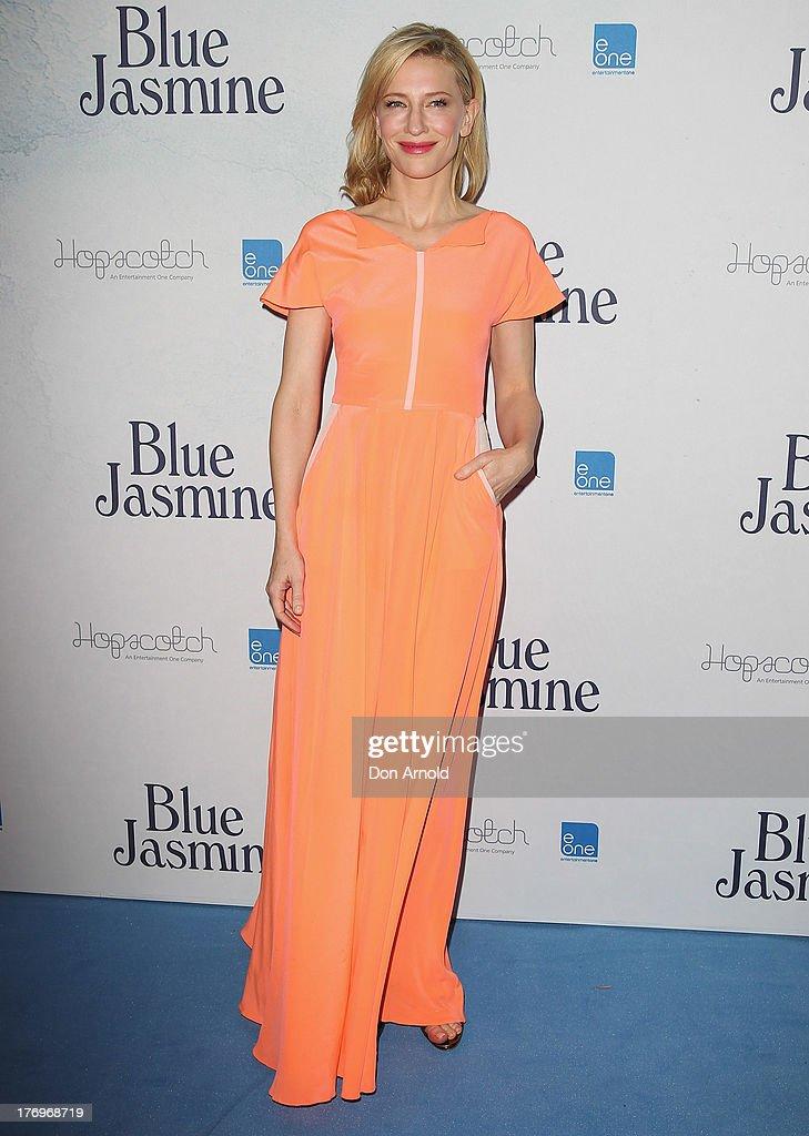 Cate Blanchett arrives at the 'Blue Jasmine' Australian premiere at the Hayden Cremorne Orpheum on August 20, 2013 in Sydney, Australia.