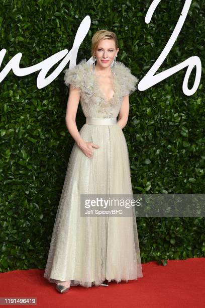 Cate Blanchett arrives at The Fashion Awards 2019 held at Royal Albert Hall on December 02, 2019 in London, England.