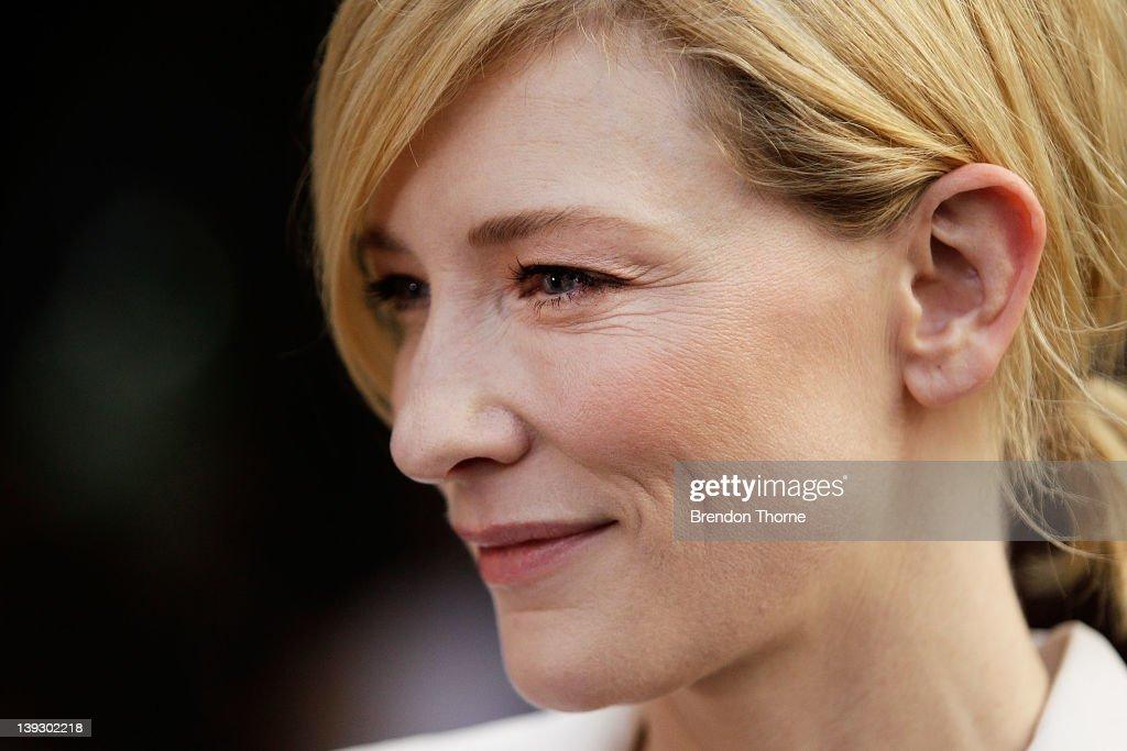 Cate Blanchett arrives at the Tropfest 2012 short film festival at The Royal Botanic Gardens on February 19, 2012 in Sydney, Australia.