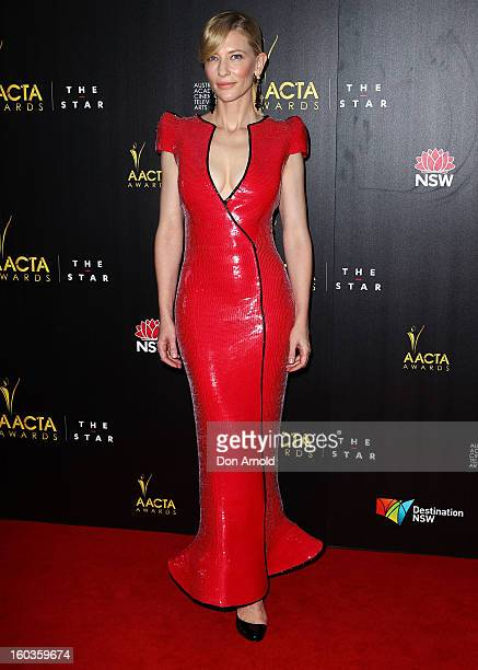 Cate Blanchett arrives for the 2nd Annual AACTA Awards at The Star on January 30 2013 in Sydney Australia