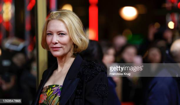 "Cate Blanchett arrives for the ""Stateless"" premiere during the 70th Berlinale International Film Festival Berlin at Zoo Palast on February 26, 2020..."