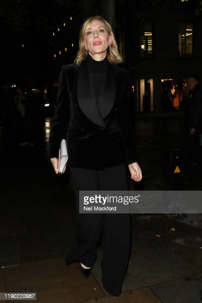 Cate Blanchett arriving at the Fayre of St James Christmas Carol Concert at St James's Church Piccadilly on November 26 2019 in London England