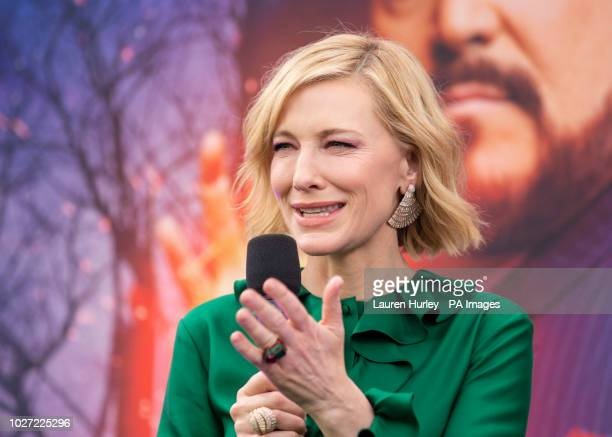 Cate Blanchett arriving at the world premiere of The House with a Clock in Its Walls at Westfield in White City, London.