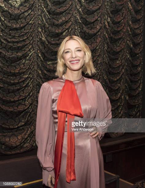 Cate Blanchett at The House with a Clock in Its Walls Press Conference at The Magic Castle on September 13 2018 in Hollywood California