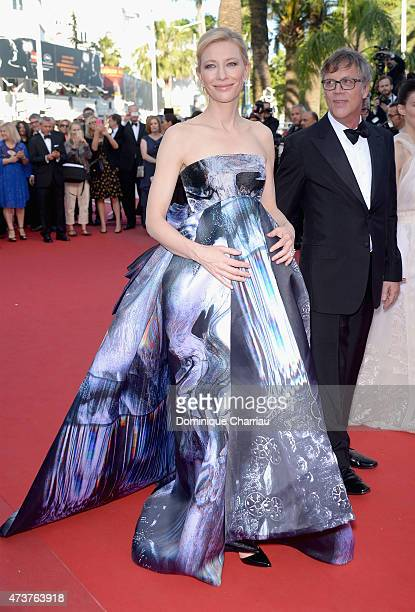 Cate Blanchett attend the Carol Premiere during the 68th annual Cannes Film Festival on May 17 2015 in Cannes France