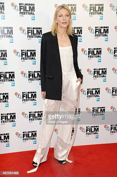 Cate Blanchett attends a photocall for 'Carol' during the BFI London Film Festival at Soho Hotel on October 14 2015 in London England