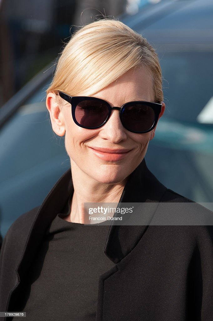 Cate Blanchett attends a photocall next to the beach closet dedicated to her on the Promenade des Planches during the 39th Deauville American Film Festival on August 31, 2013 in Deauville, France.
