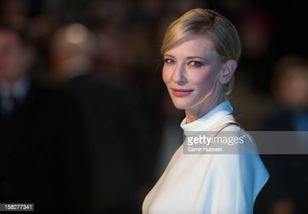 Cate Blanchett attends a royal film performance of 'The Hobbit: An Unexpected Journey' at The Empire Leicester Square on December 12, 2012 in London,...