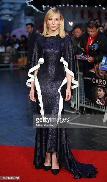 """Cate Blanchett attends a screening of """"Carol"""" during the BFI London Film Festival at Odeon Leicester Square on October 14, 2015 in London, England."""