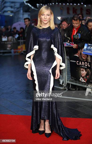 "Cate Blanchett attends a screening of ""Carol"" during the BFI London Film Festival at Odeon Leicester Square on October 14, 2015 in London, England."