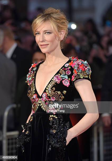 Cate Blanchett attends a screening of 'Truth' during the BFI London Film Festival at Odeon Leicester Square on October 17 2015 in London England