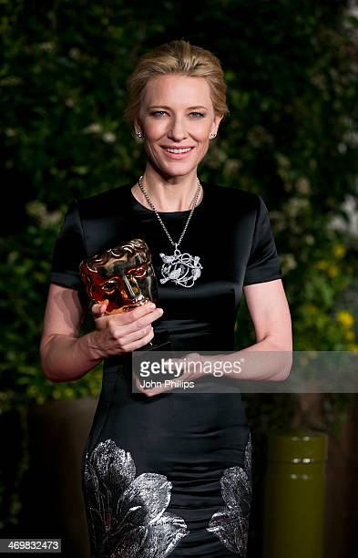 Cate Blanchett attends an official dinner party after the EE British Academy Film Awards at The Grosvenor House Hotel on February 16 2014 in London...