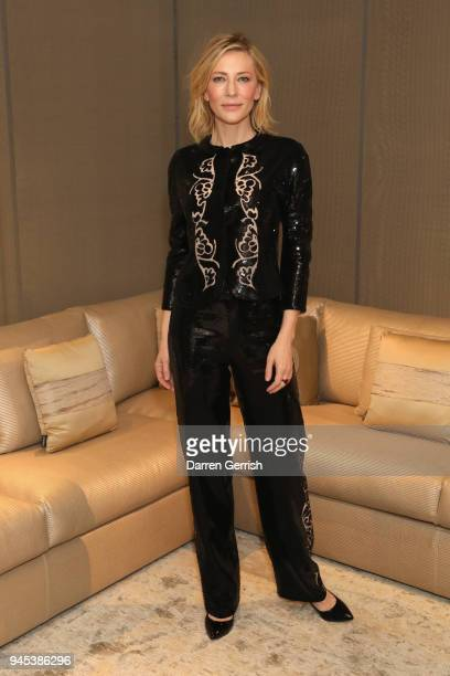 Cate Blanchett attends as Giorgio Armani hosts trunk show at the Giorgio's London event to celebrate the opening of the new Giorgio Armani and...