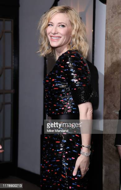 Cate Blanchett attends Harper's Bazaar Women Of The Year Awards 2019 at Claridge's Hotel on October 29, 2019 in London, England.