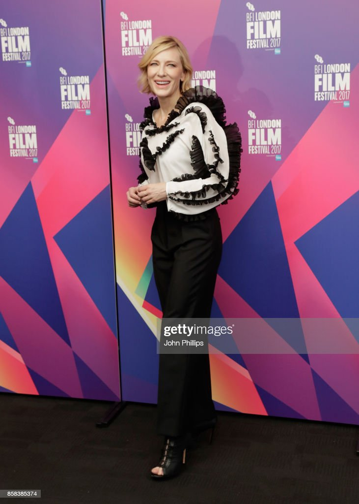 Cate Blanchett attends LFF Connects at the 61st BFI London Film Festival on October 6, 2017 in London, England.
