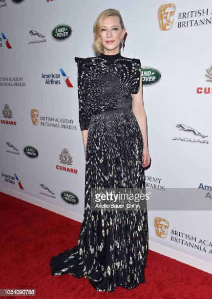 Cate Blanchett attends the 2018 British Academy Britannia Awards presented by Jaguar Land Rover and American Airlines at The Beverly Hilton Hotel on...