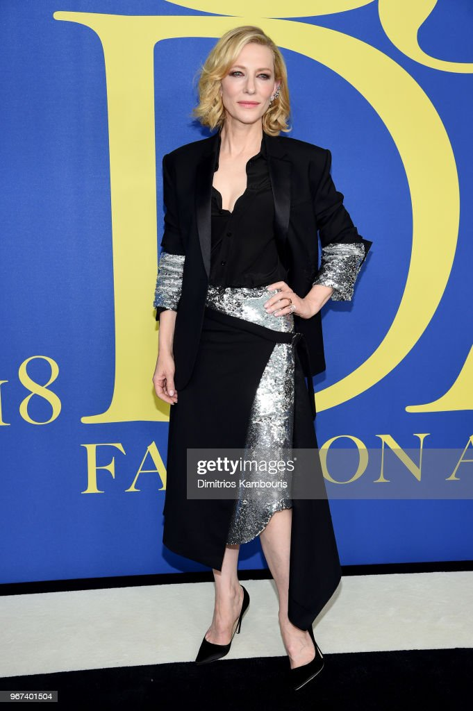 Cate Blanchett attends the 2018 CFDA Fashion Awards at Brooklyn Museum on June 4, 2018 in New York City.