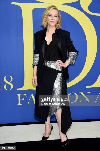 Cate Blanchett attends the 2018 CFDA Fashion Awards at Brooklyn Museum on June 4 2018 in New York City