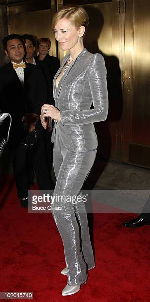 Cate Blanchett attends the 64th Annual Tony Awards at Radio City Music Hall on June 13 2010 in New York City