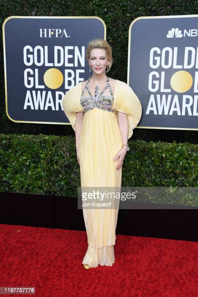 Cate Blanchett attends the 77th Annual Golden Globe Awards at The Beverly Hilton Hotel on January 05 2020 in Beverly Hills California