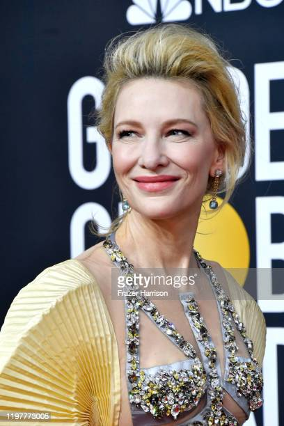 Cate Blanchett attends the 77th Annual Golden Globe Awards at The Beverly Hilton Hotel on January 05, 2020 in Beverly Hills, California.