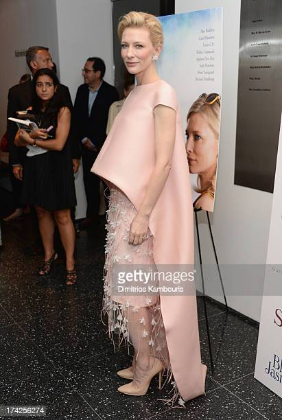 Cate Blanchett attends the 'Blue Jasmine' New York Premiere at the Museum of Modern Art on July 22 2013 in New York City