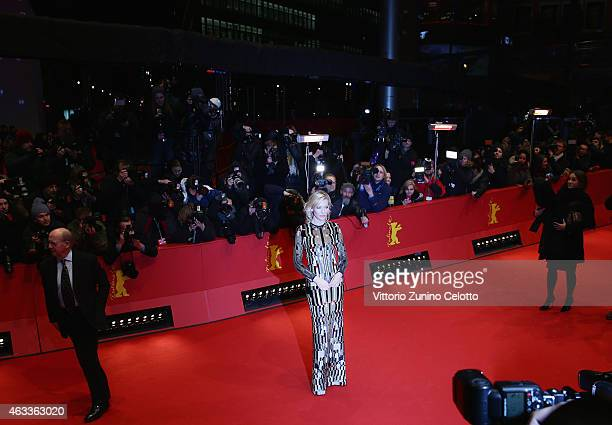 Cate Blanchett attends the 'Cinderella' premiere during the 65th Berlinale International Film Festival at Berlinale Palace on February 13 2015 in...