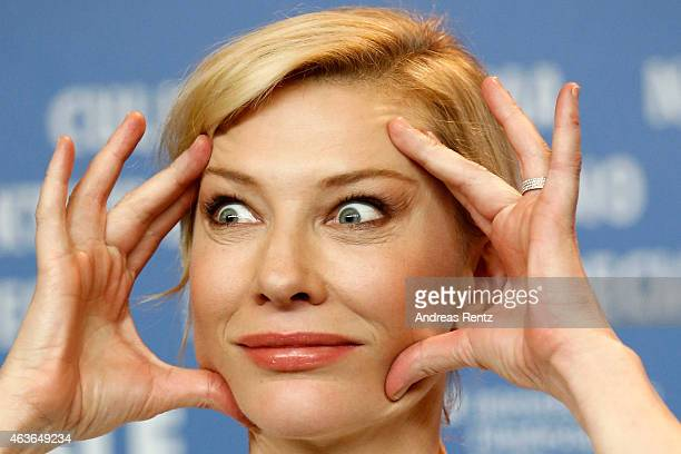 Cate Blanchett attends the 'Cinderella' press conference during the 65th Berlinale International Film Festival at Grand Hyatt Hotel on February 13...