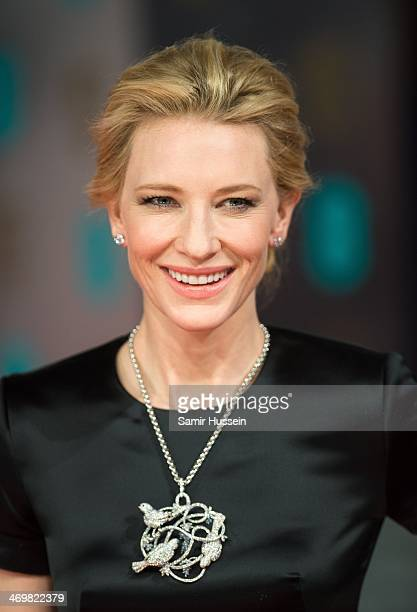 Cate Blanchett attends the EE British Academy Film Awards 2014 at The Royal Opera House on February 16 2014 in London England