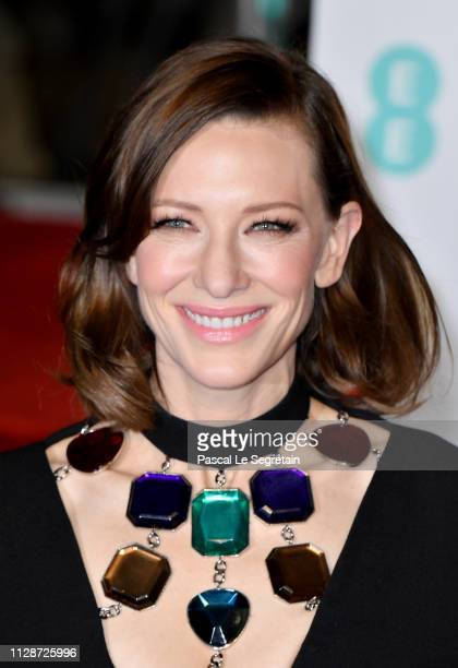 Cate Blanchett attends the EE British Academy Film Awards at Royal Albert Hall on February 10, 2019 in London, England.