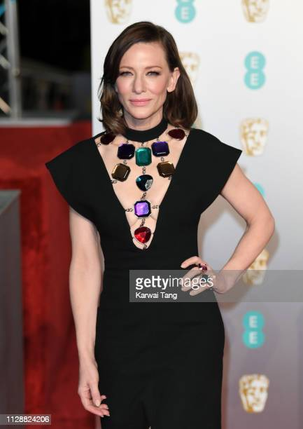 Cate Blanchett attends the EE British Academy Film Awards at Royal Albert Hall on February 10 2019 in London England