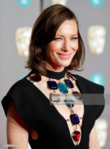 Cate Blanchett attends the EE British Academy Film Awards at the Royal Albert Hall on February 10, 2019 in London, England.