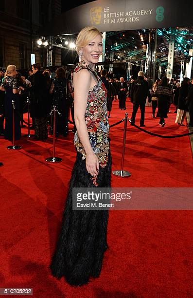 Cate Blanchett attends the EE British Academy Film Awards at The Royal Opera House on February 14 2016 in London England