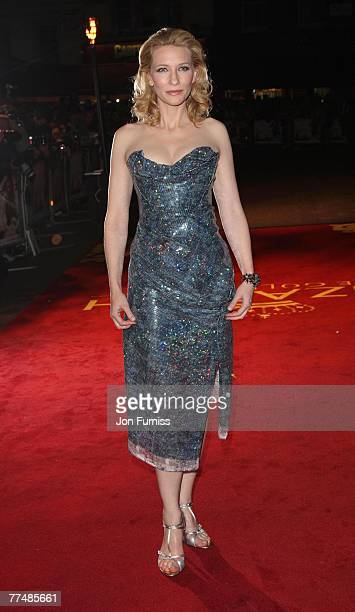 """Cate Blanchett attends the """"Elizabeth: The Golden Age"""" film premiere at the Odeon Leicester Square on October 23, 2007 in London."""