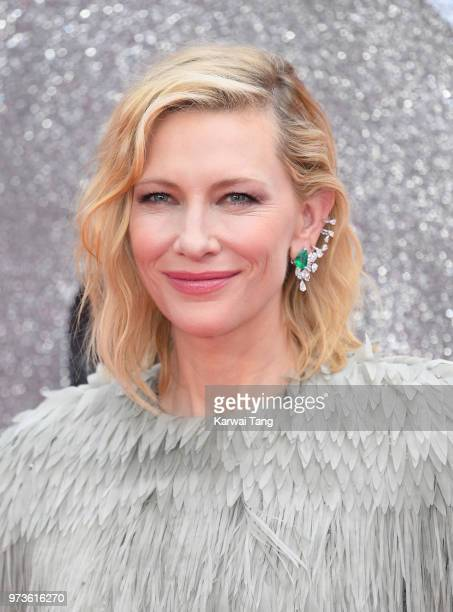 Cate Blanchett attends the European Premiere of 'Ocean's 8' at Cineworld Leicester Square on June 13 2018 in London England