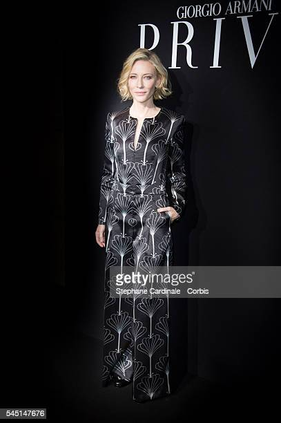 Cate Blanchett attends the Giorgio Armani Prive Haute Couture Fall/Winter 20162017 show as part of Paris Fashion Week on July 5 2016 in Paris France