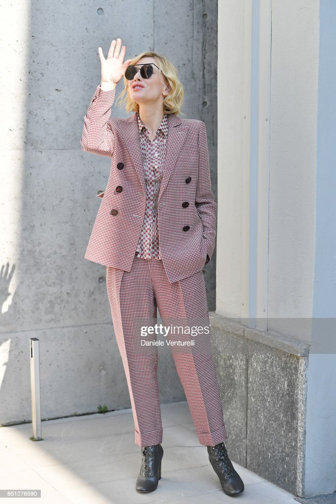 Cate Blanchett attends the Giorgio Armani show during Milan Fashion Week Spring/Summer 2018 on September 22, 2017 in Milan, Italy.