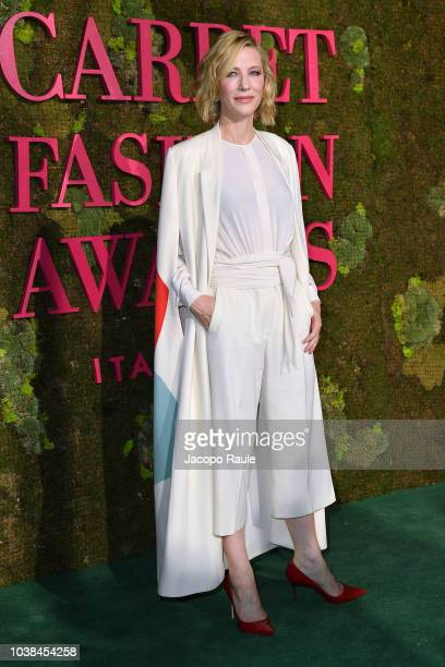 Annabelle Belmondo attends the Green Carpet Fashion Awards at Teatro Alla Scala on September 23 2018 in Milan Italy