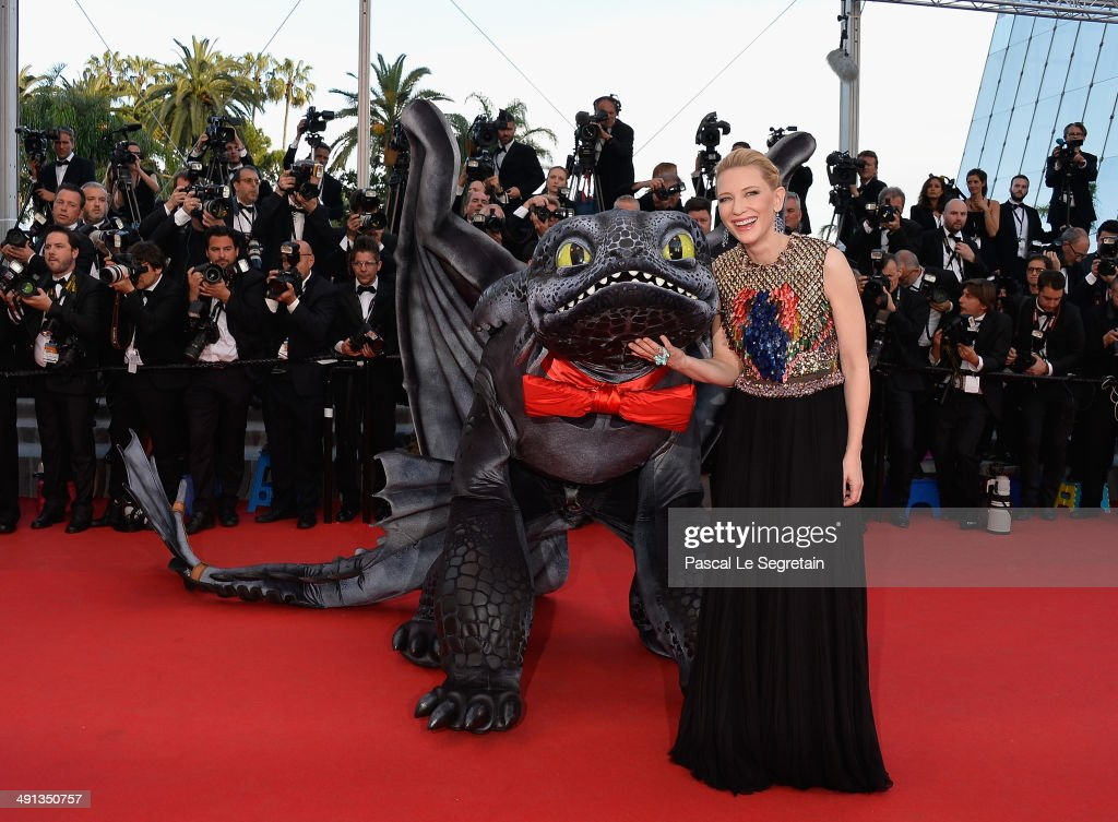 Cate Blanchett attends the 'How To Train Your Dragon 2' premiere during the 67th Annual Cannes Film Festival on May 16, 2014 in Cannes, France.