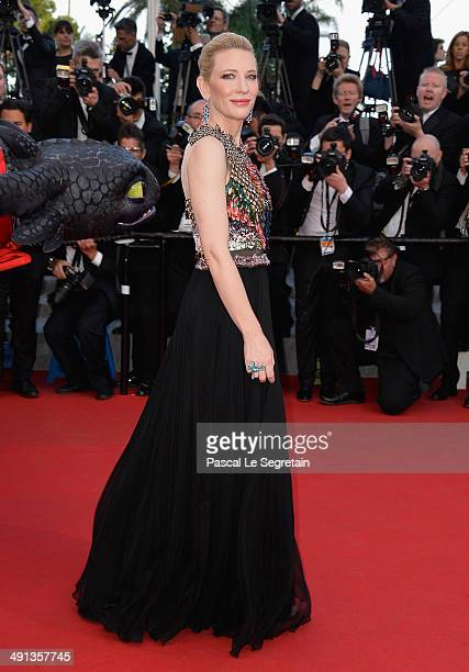 """Cate Blanchett attends the """"How To Train Your Dragon 2"""" premiere during the 67th Annual Cannes Film Festival on May 16, 2014 in Cannes, France."""