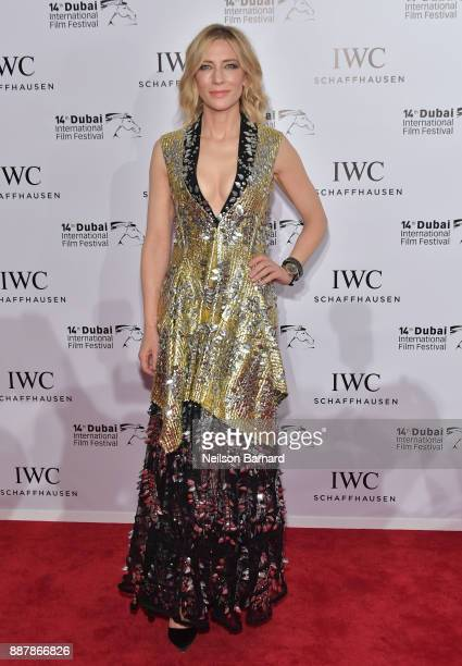 Cate Blanchett attends the IWC Filmmakers Award on day two of the 14th Annual Dubai International Film Festival held at the One and Only Hotel on...