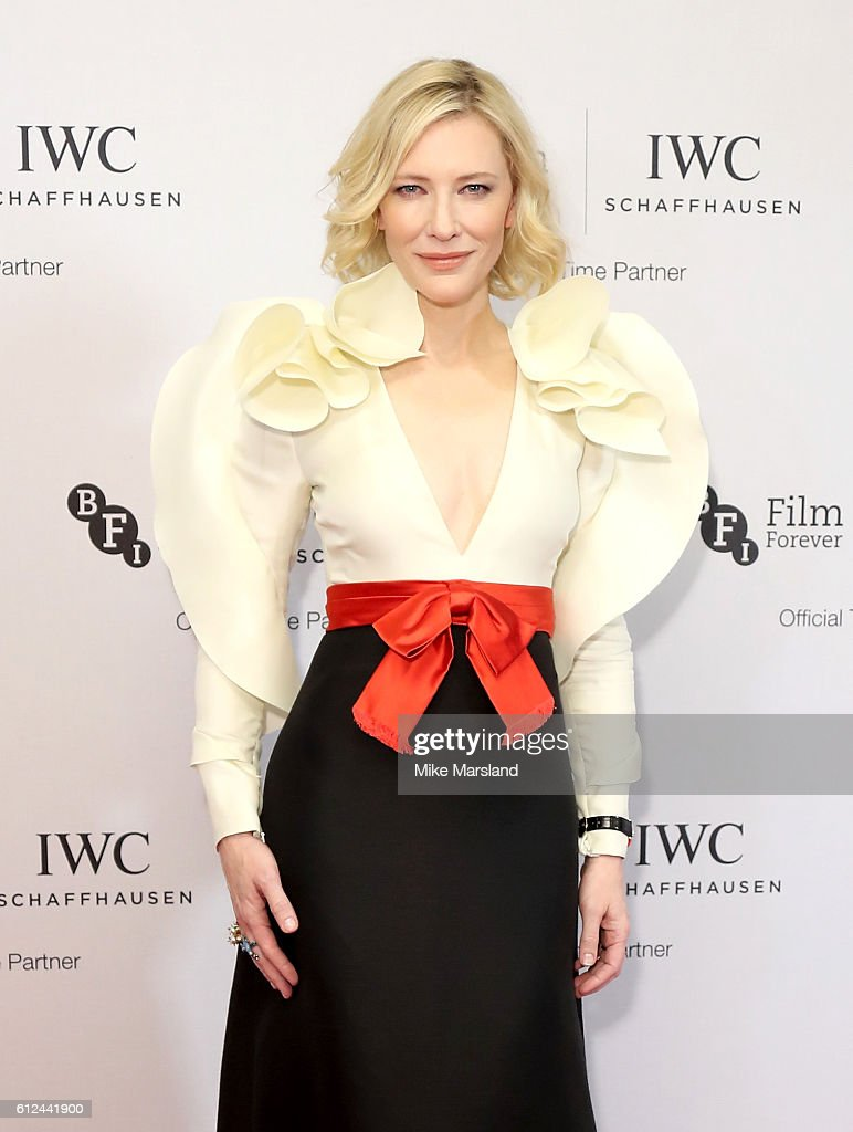 Cate Blanchett attends the IWC Gala Dinner in honour of the British Film Institute at Rosewood Hotel on October 4, 2016 in London, England.