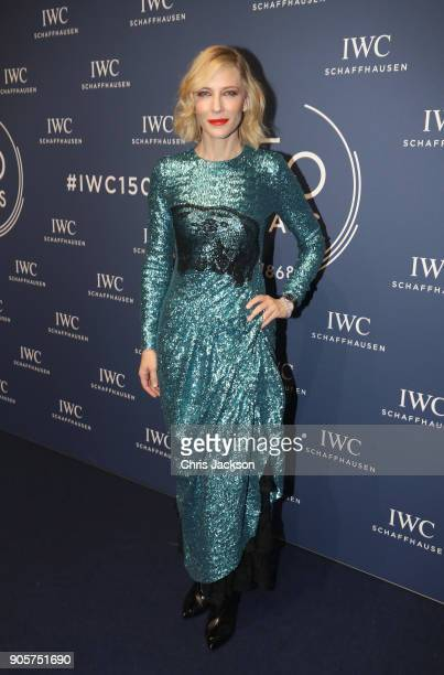 Cate Blanchett attends the IWC Schaffhausen Gala celebrating the Maison's 150th anniversary and the launch of its Jubilee Collection at the Salon...