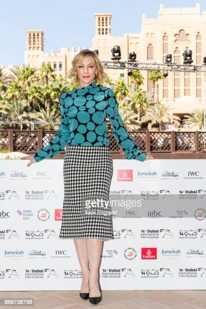 Cate Blanchett attends the jury meeting of the sixth IWC Filmmaker Award at the 7th Dubai International Film Festival during which Swiss luxury watch...