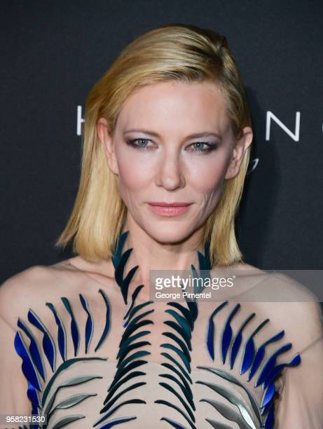 Cate Blanchett attends the Kering Women In Motion dinner during the 71st annual Cannes Film Festival at Place de la Castre on May 13, 2018 in Cannes,...