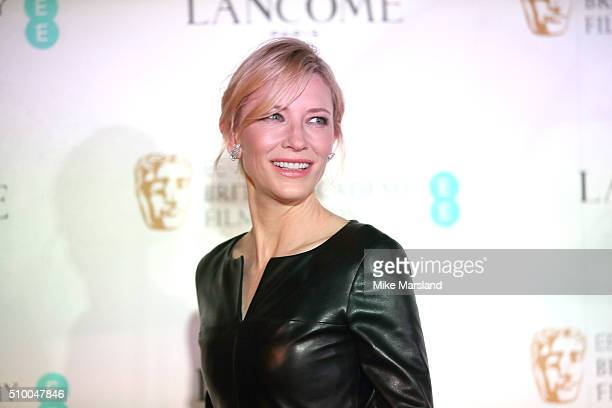 Cate Blanchett attends the Lancome BAFTA nominees party at Kensington Palace on February 13 2016 in London England