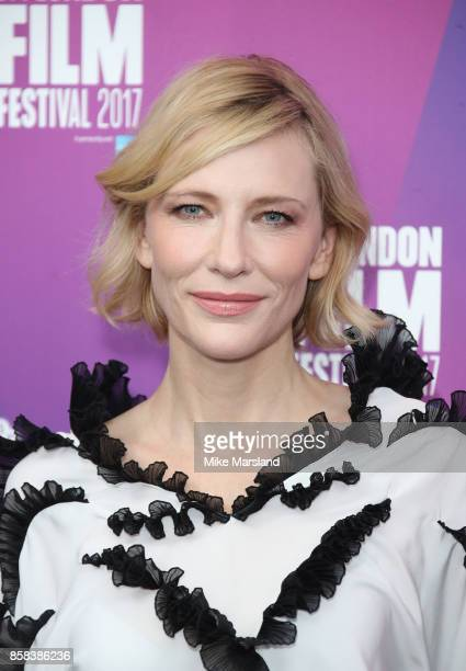 Cate Blanchett attends the LFF Connects Julian Rosefeldt Cate Blanchett event at the 61st BFI London Film Festival on October 6 2017 in London England