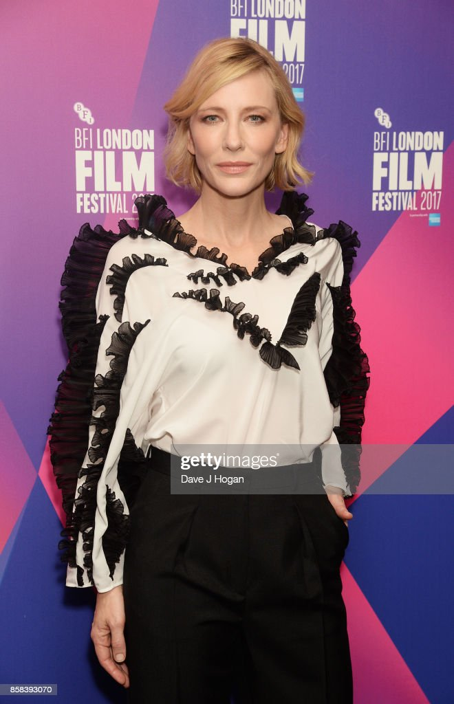 Julian Rosefeldt & Cate Blanchett event at the 61st BFI London Film Festival on October 6, 2017 in London, England.